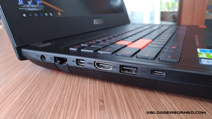 Slot Panel Kiri ASUS ROG Strix GL502VS