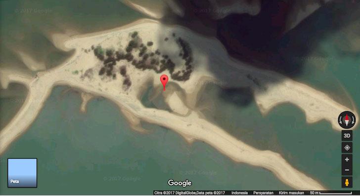 Penampakan Susunan Pohon di Pulau Sambas Mirip Tulisan Lafaz Allah