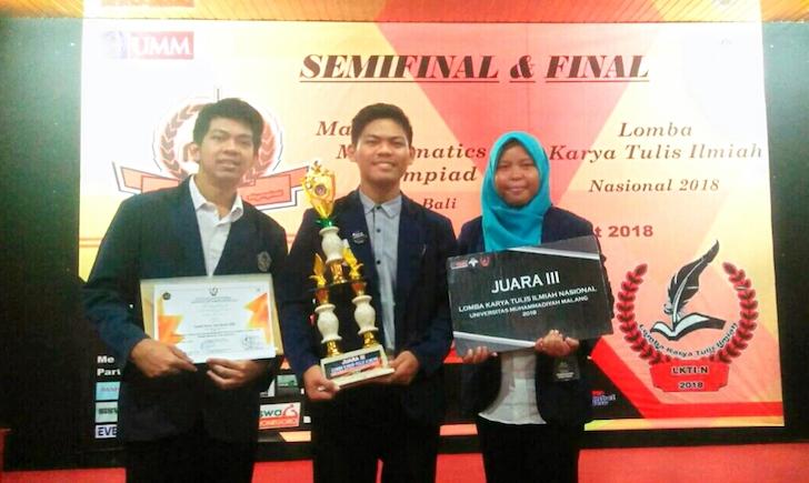 Prestasi Mahasiswa UNTAN - Juara 3 LKTI Nasional 2018